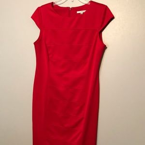 Women's Sexy Fitted Red Dress Studio One Size 12